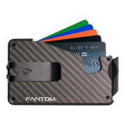 Fantom S 13 Coin Holder Carbon Fibre Wallet - Black Money Clip