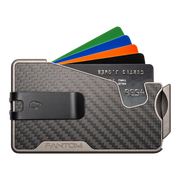 Fantom R 13 Carbon Fibre Wallet - Black Money Clip