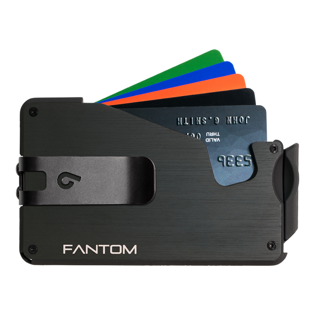 Fantom S 7 Regular Aluminium Wallet (Black) - Black Money Clip
