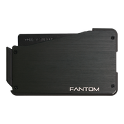 Fantom S 10 Coin Holder Aluminium Wallet (Black) - Back View