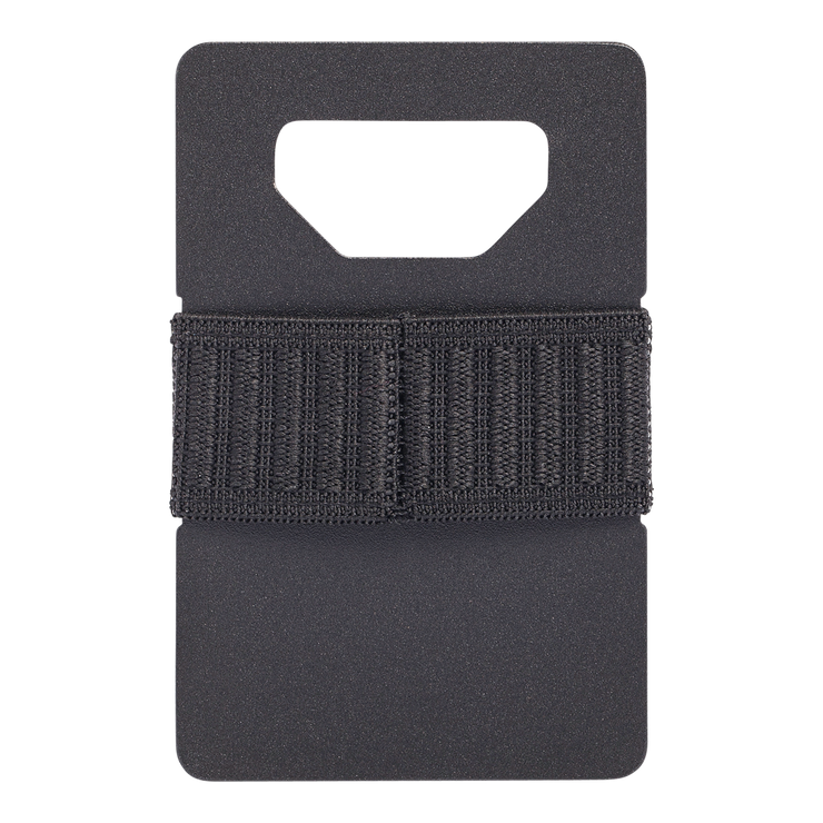 Spine Titanium Minimalist Wallet (Black) - Back View