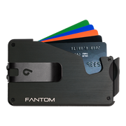 Fantom S 10 Coin Holder Aluminium Wallet (Black) - Black Money Clip