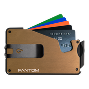 Fantom S 7 Coin Holder Aluminium Wallet (Gold) - Black Money Clip