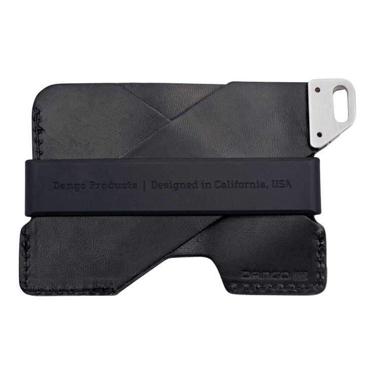 Dango C01 Civilian Wallet (Jet Black) - Back View