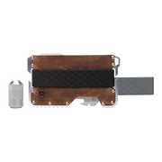 Dango T01c Tactical Wallet Bundle (Brown Raw Hide) - Complete View