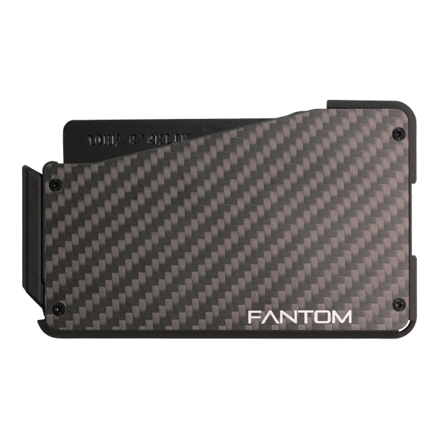 Fantom S 7 Coin Holder Carbon Fibre Wallet - Back View