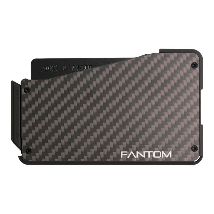 Fantom S 7 Regular Carbon Fibre Wallet - Back View