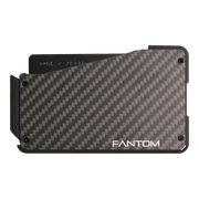 Fantom S 10 Coin Holder Carbon Fibre Wallet - Back View
