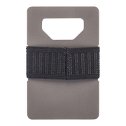 Spine Titanium Minimalist Wallet (Charcoal) - Back View