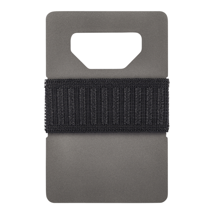 Spine Titanium Minimalist Wallet (Charcoal) - Front View