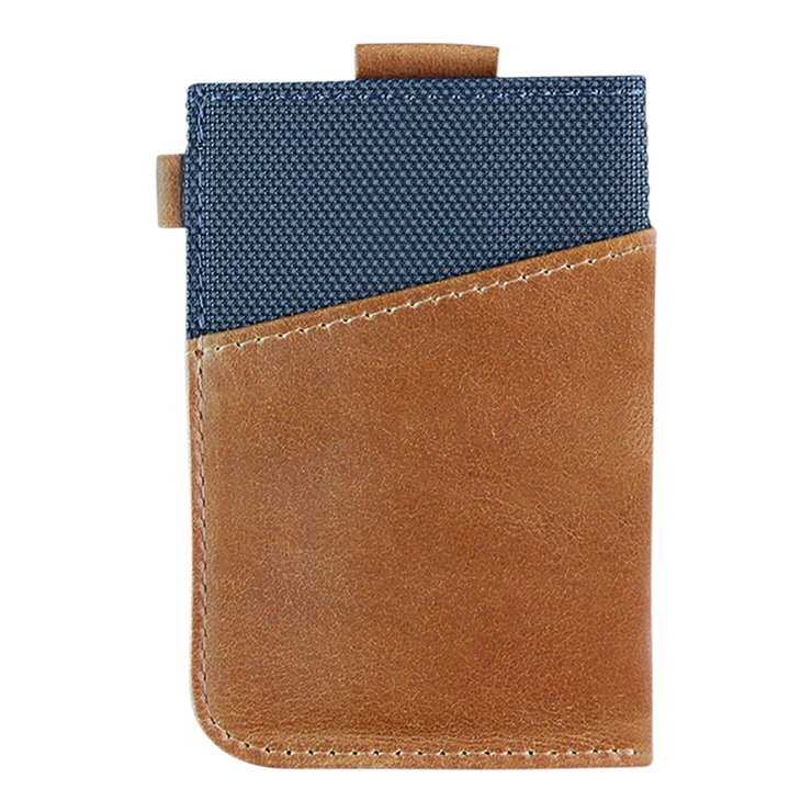 Loft of Cambie Wolyt Sleeve with RFID Shield (Cobalt/Brown) - Back View