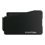 Fantom S 13 Regular Aluminium Wallet (Black) - Back View