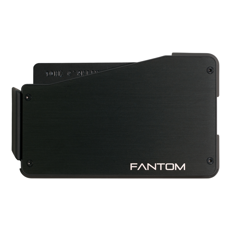 Fantom S 13 Coin Holder Aluminium Wallet (Black) - Back View