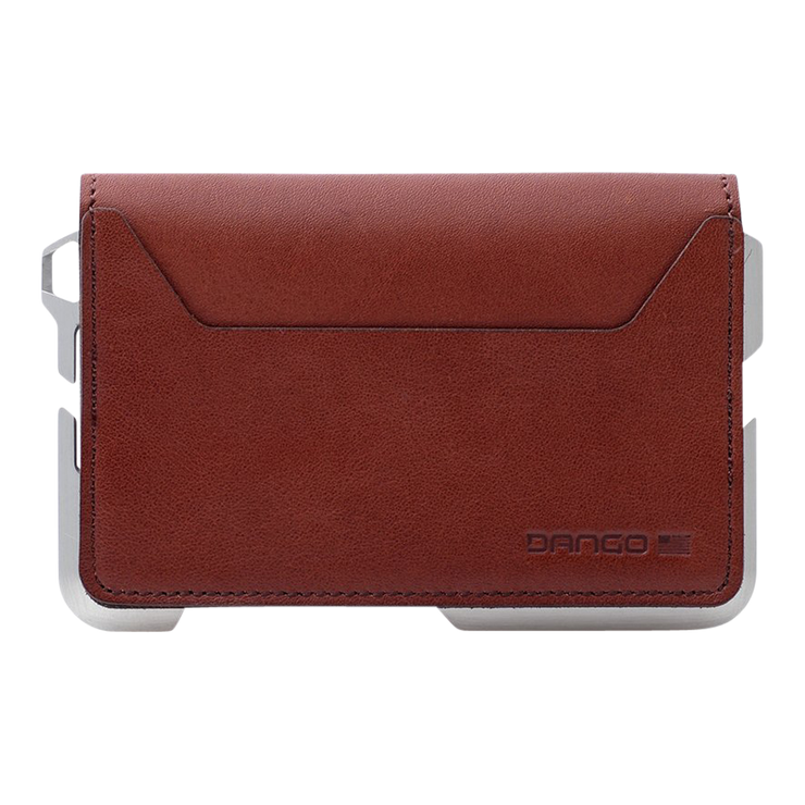 Dango D01 Dapper Bifold Wallet (Whiskey Brown) - Back View