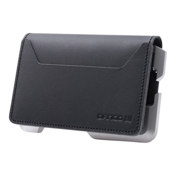 Dango D01 Dapper Bifold Wallet (Jet Black) - Closed View