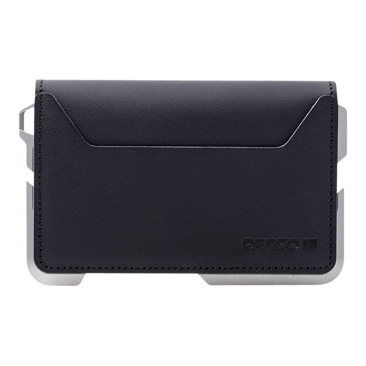 Dango D01 Dapper Bifold Wallet (Jet Black) - Back View