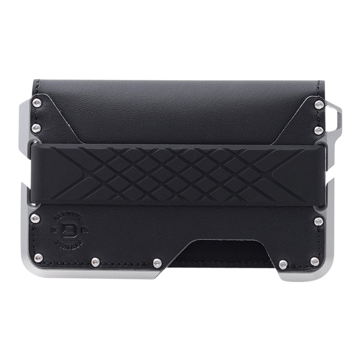 Dango D01 Dapper Bifold Wallet (Jet Black) - Front View