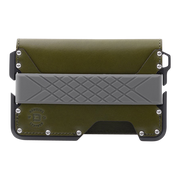 Dango D01 Dapper Bifold Wallet (Moss Green) - Front View