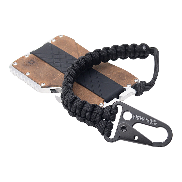 Dango T01t Tactical Wallet Bundle (Raw Hide) - Jet Black Cobra Weave 550 Paracord