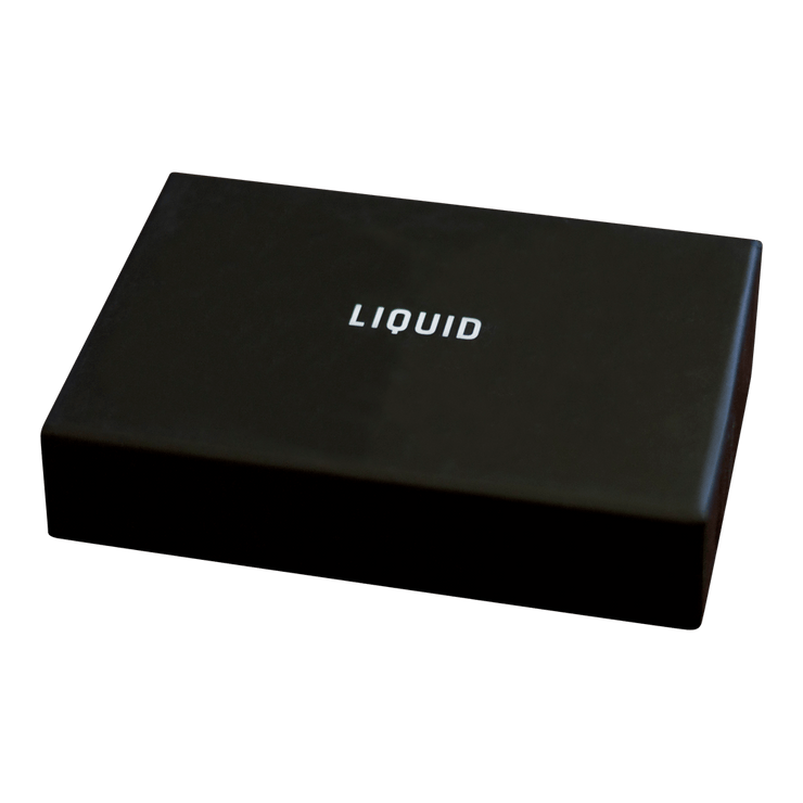 Liquid Carry Aluminium Wallet (Matte Black / Black Screws) - Packaging