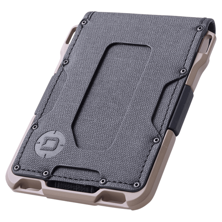 Dango M1 Maverick 4 Pocket Bifold Spec-Ops Wallet (Desert Sand) - Angled View