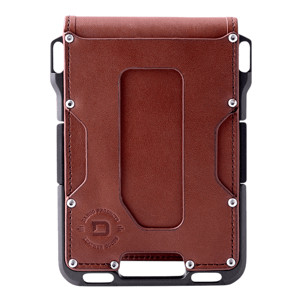 Dango M1 Maverick 4 Pocket Bifold Wallet (Whiskey Brown/Slate Grey) - Front View