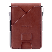 Dango M1 Maverick 4 Pocket Bifold Wallet (Whiskey Brown/Slate Grey) - Back View