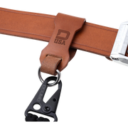 Dango Leather Belt Fob (Whiskey Brown) - In Use
