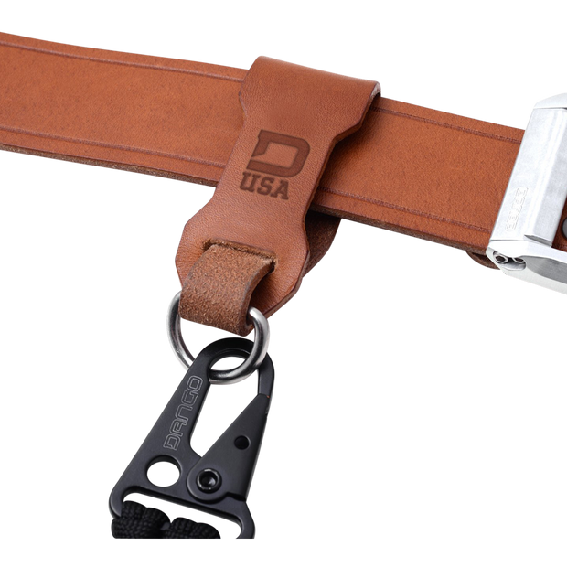 Dango Belt Fob (Whiskey Brown) - In Use