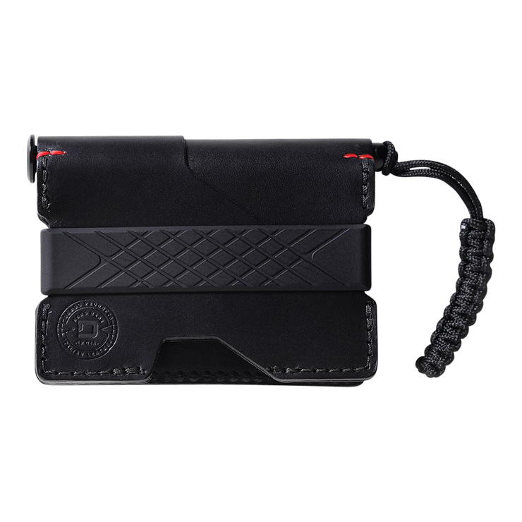 Dango P01 Pioneer Wallet & Dango Pen (Jet Black) - Front View