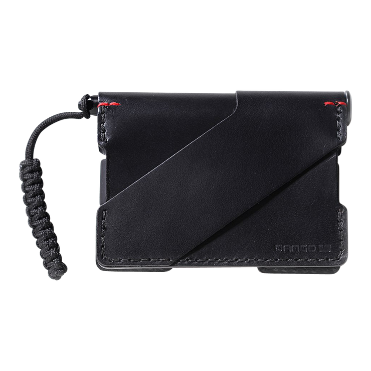 Dango P01 Pioneer Wallet & Dango Pen (Jet Black) - Back View