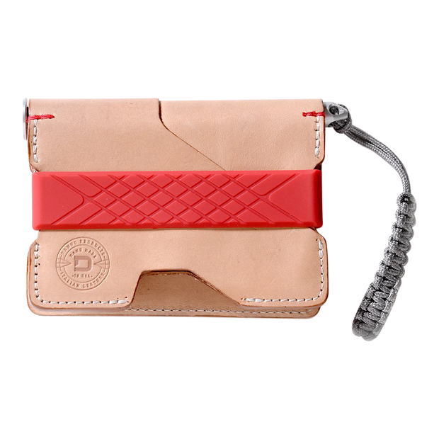Dango P01 Pioneer Wallet & Dango Pen (Natural Veg Tan) - Front View