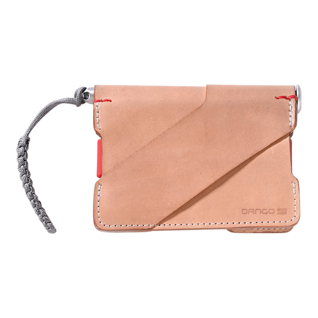 Dango P01 Pioneer Wallet & Dango Pen (Natural Veg Tan) - Back View