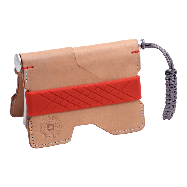 Dango P01 Pioneer Wallet & Dango Pen (Natural Veg Tan) - Cash Strap