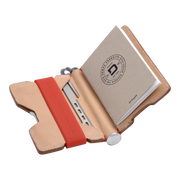 Dango P01 Pioneer Wallet & Dango Pen (Natural Veg Tan) - Open View