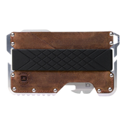 Dango T01 Tactical Wallet (Brown Raw Hide) - Front View