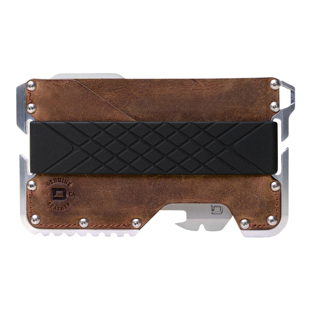 Dango T01c Tactical Wallet Bundle (Brown Raw Hide) - Wallet Front View
