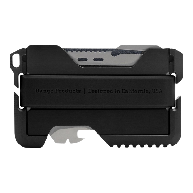 Dango T01 Tactical Wallet (Jet Black) - Back View