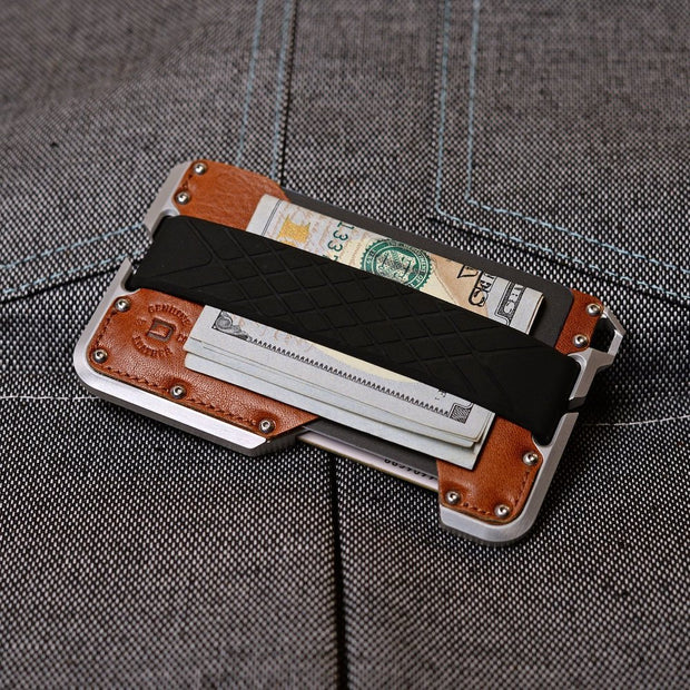 Dango D01c Dapper Wallet Bundle (Whiskey Brown) - Cash Strap