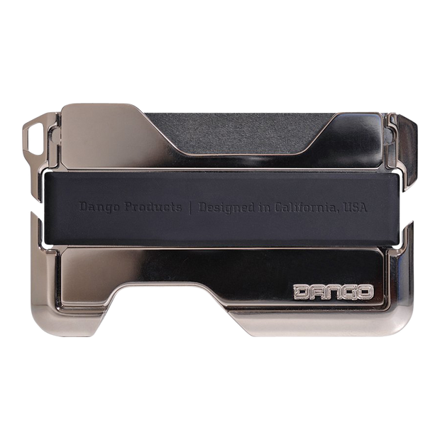 Dango D02 Nickel Plated Dapper Wallet (Jet Black) - Closed View