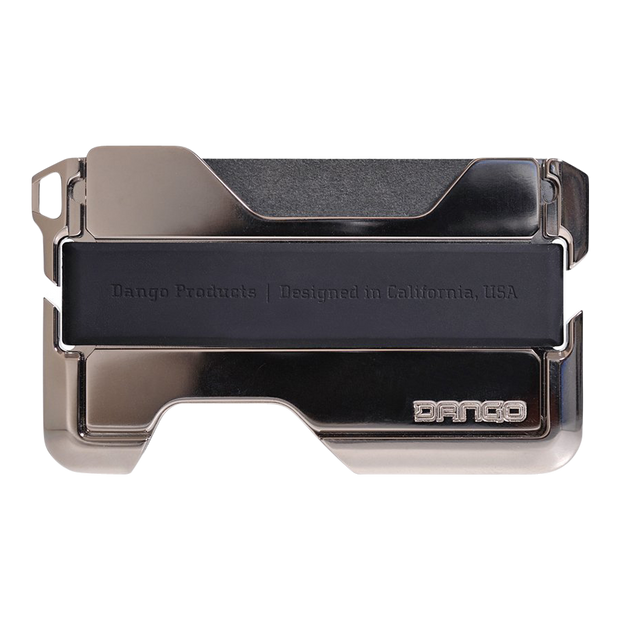 Dango D02 Nickel Plated Dapper Wallet (Raw Hide) - Closed View