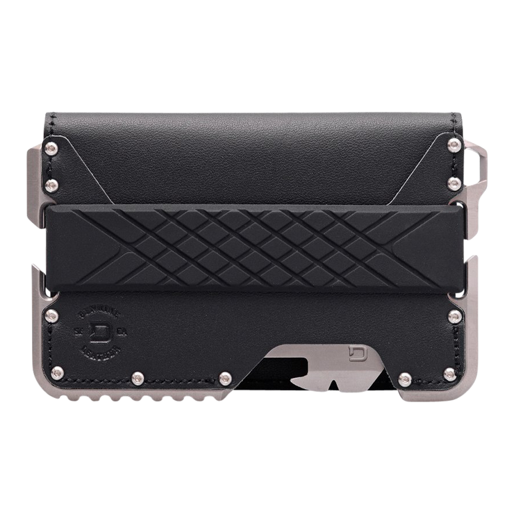 Dango T02 Titanium Tactical 3 Pocket Bifold Wallet Bundle - Wallet Front View