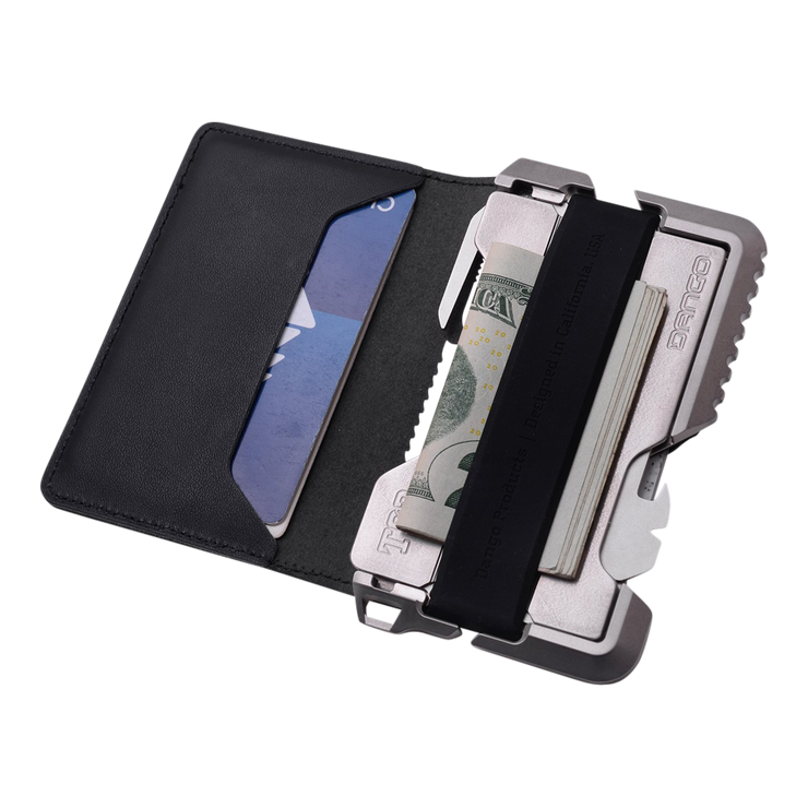 Dango T02 Titanium Tactical 3 Pocket Bifold Wallet Bundle - Wallet Cash & Cards