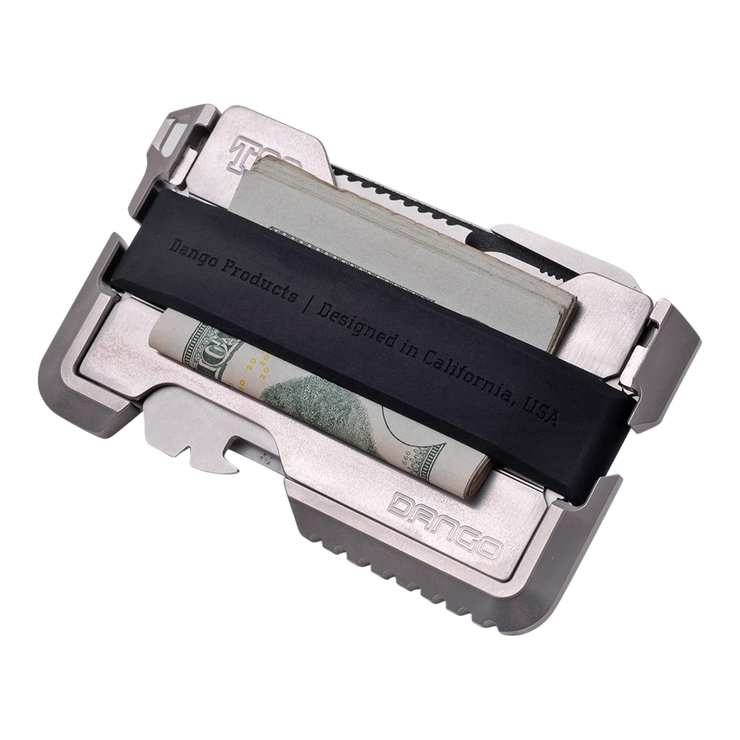 Dango T02 Titanium Tactical Single Pocket Wallet - Cash Strap