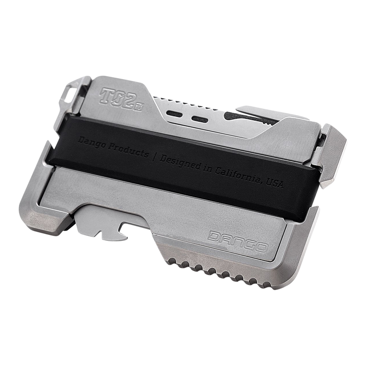 Dango T02 Titanium Tactical Single Pocket Wallet - Silicone Band