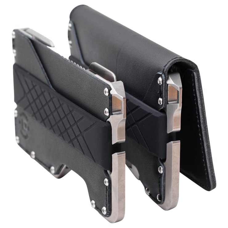 Dango T02 Titanium Tactical Single Pocket Wallet Bundle - T02 Series Front View