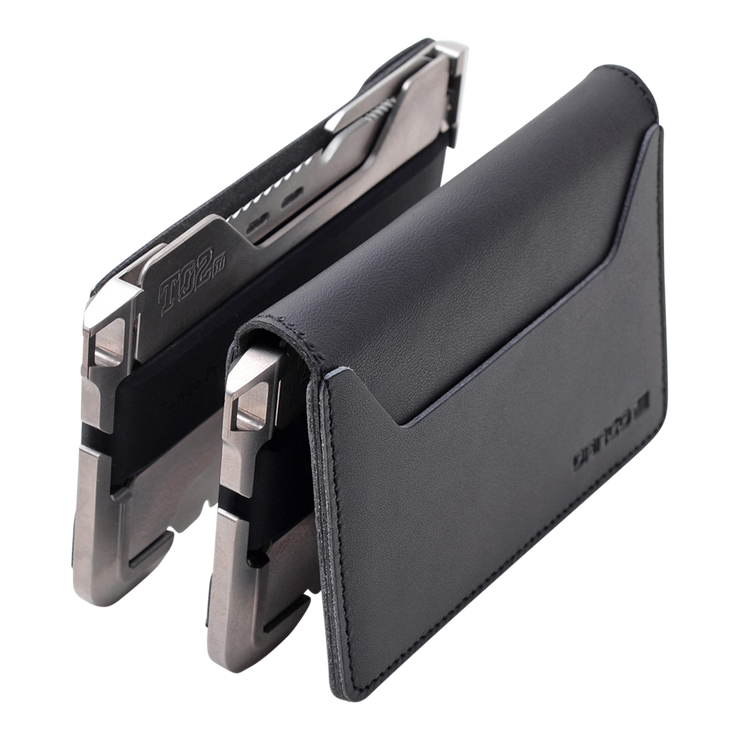 Dango T02 Titanium Tactical Single Pocket Wallet Bundle - T02 Series Back View