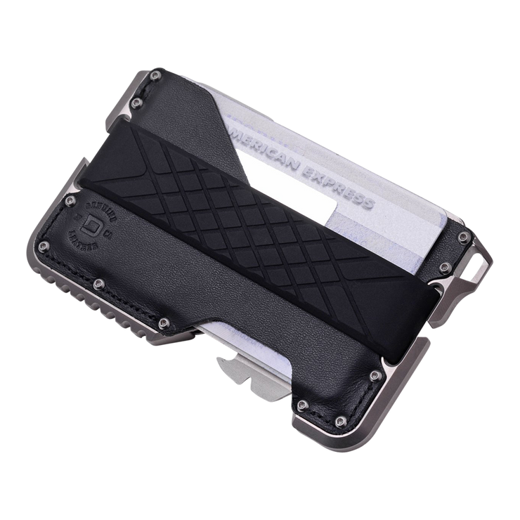 Dango T02 Titanium Tactical Single Pocket Wallet Bundle - Wallet Card Slot