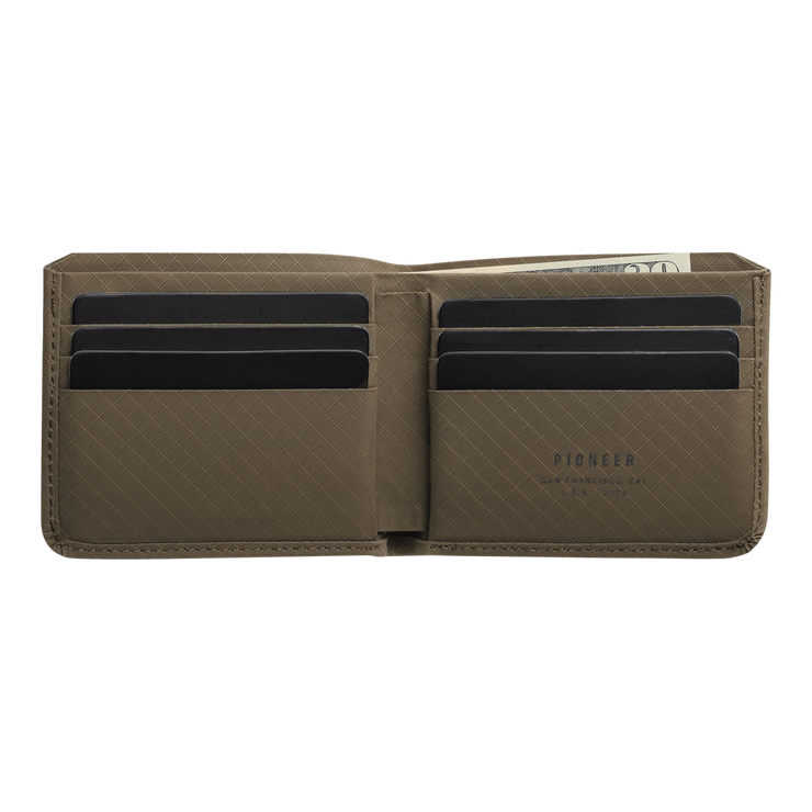 Pioneer Division 3PN Matte Billfold Wallet (Earth) - Open View