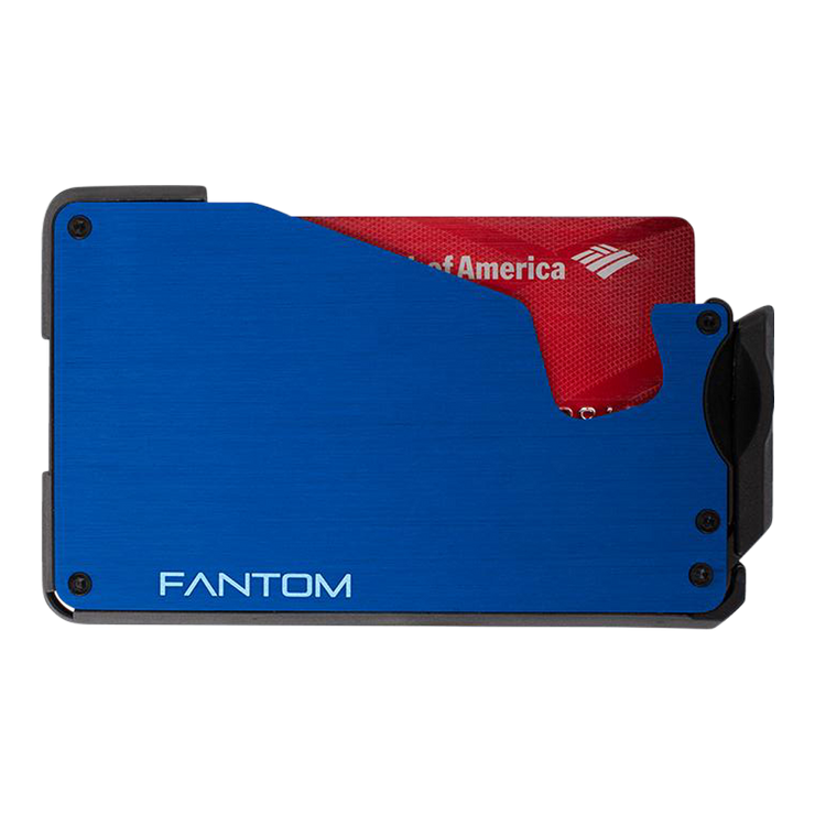 Fantom F10 Aluminium Wallet (Blue) - Front View